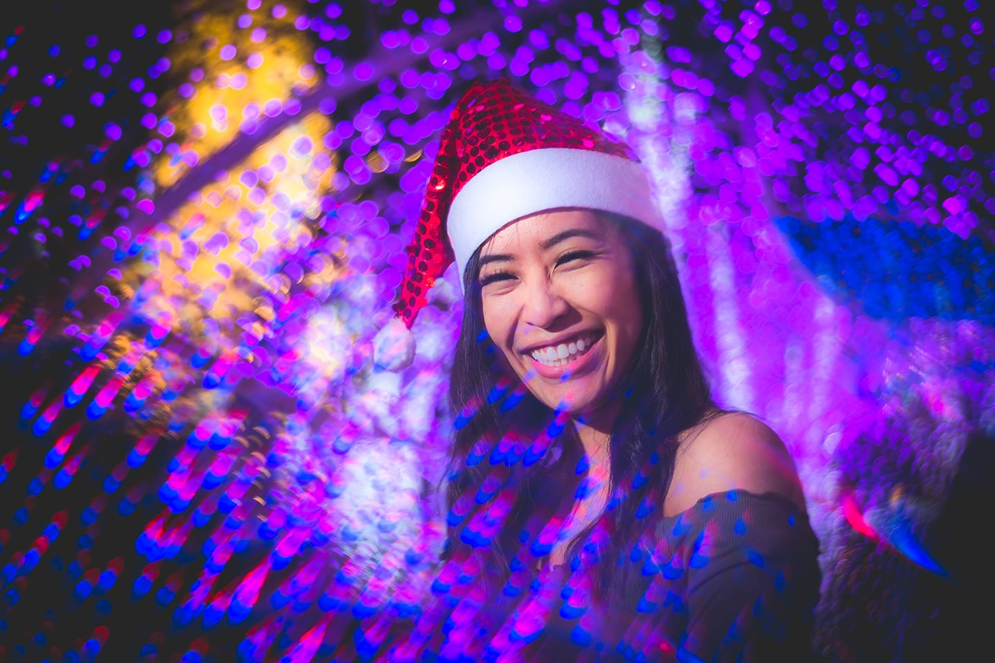 fractals-girl-christmas-lights-purple-laughing