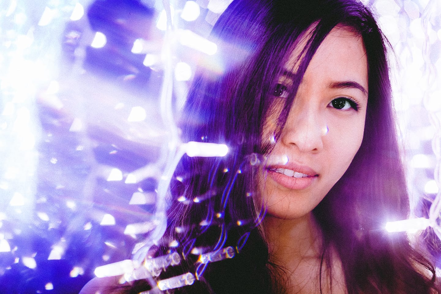fractals-girl-christmas-lights-purple-lens-flare-seattle-retouched